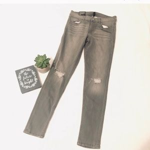 H&M grey super Skinny Regular Waist Ankle Jeans